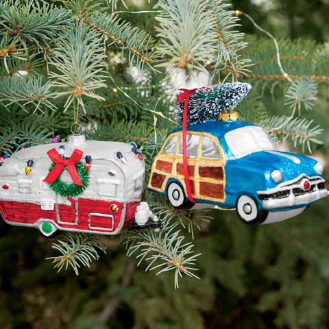 Christmas Caravan Ornament Set