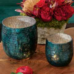 Baltic Blue Candle Holders