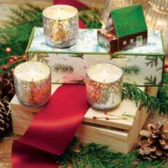 Snowy Votive Trio Candles