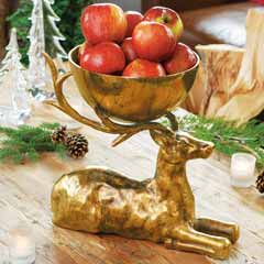 Gilded Stag Bowl