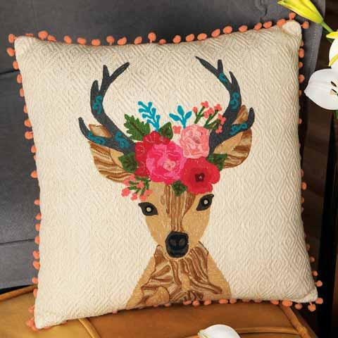 Reindeer Princess Pillow