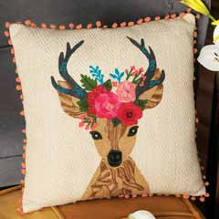 Reindeer Princess Pillow