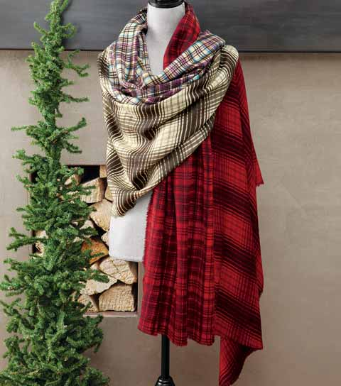 Berkeley Wool Plaid Wrap