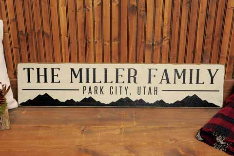 Customized Rustic Wood Sign