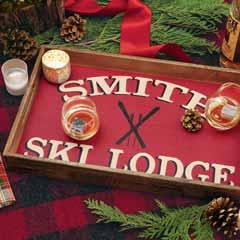 Personalized Ski Lodge Tray