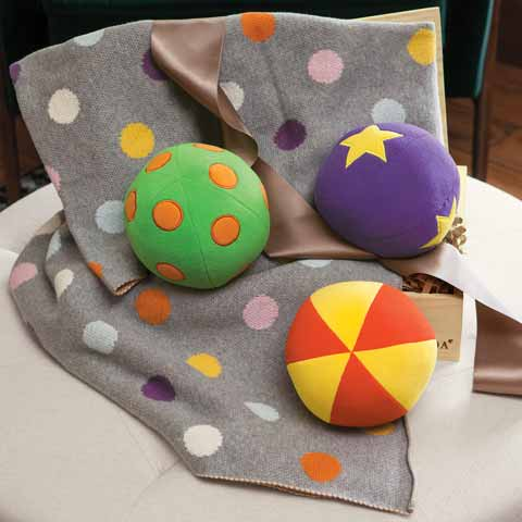 Chime Balls & Happy Dots Blankie