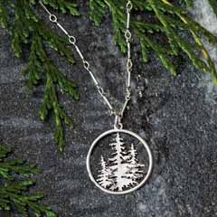 Silver Pine Grove Necklace