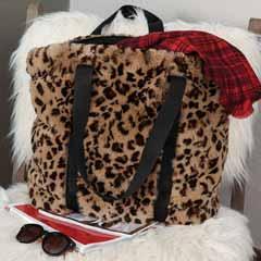 Faux Leopard Tote