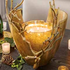 Gilded Arbor Vase & Candle