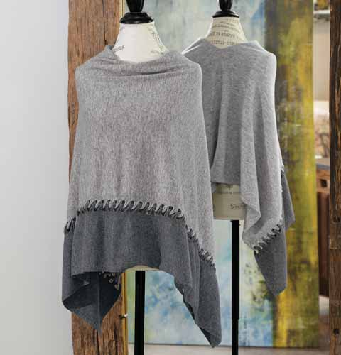 Silvered Cashmere Poncho