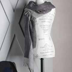 Mist Grey Cashmere Wrap