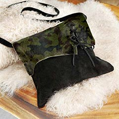 Lace-up Camo Leather Bag