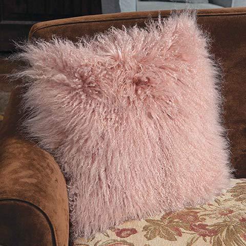 Blush Lambswool Pillow