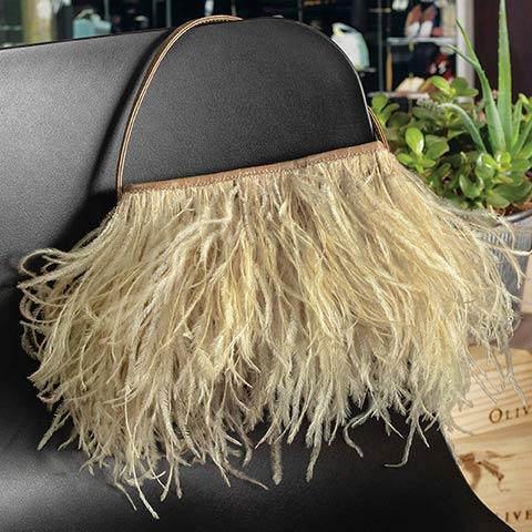 Harlow Feather Handbag