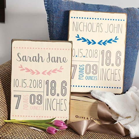 Customized Birth Announcement Board