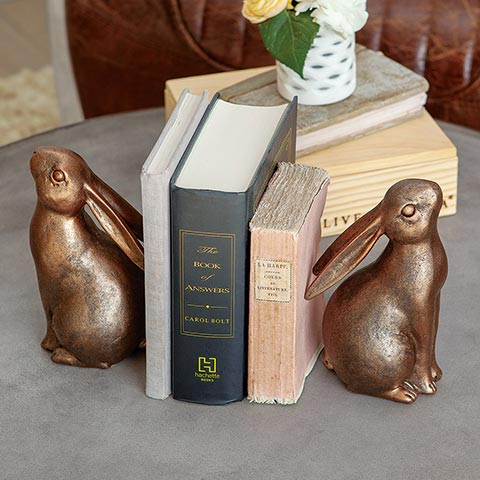 Lapin Bookends