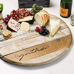 Vintage Barrel Lazy Susan