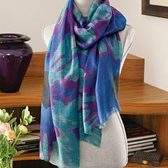 Poetic Abstract Scarf