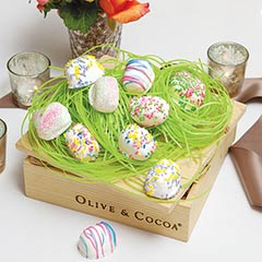 Truffles In Edible Easter Grass