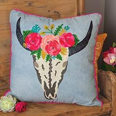 Skull & Fleur Pillow