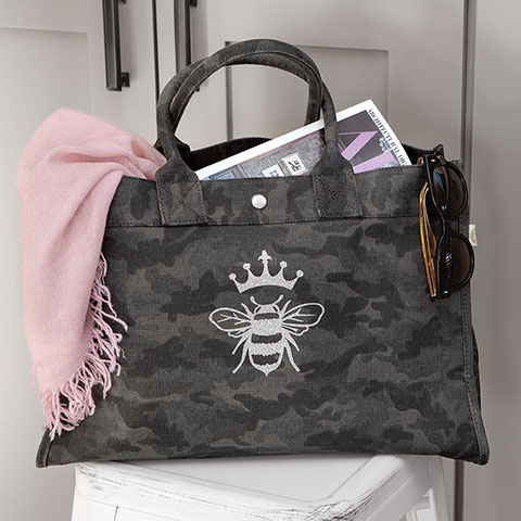 Queen Bee Camo Tote
