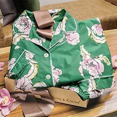Emerald Blooms Pajamas