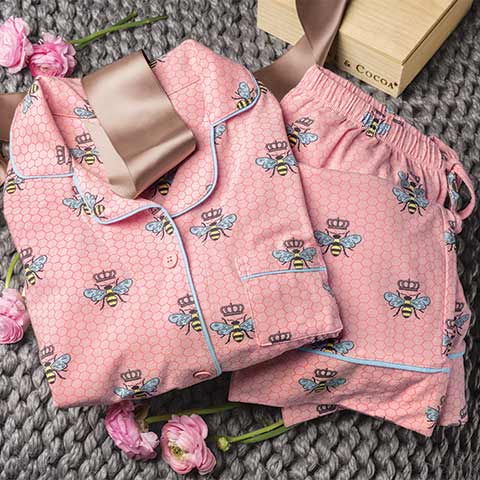 Pink Queen Bee Pajamas