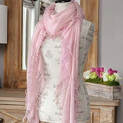 Rose Blush Cashmere Scarf