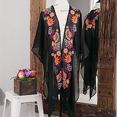 Althea Embroidered Kimono