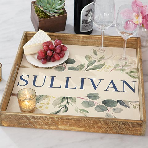 Jardin Personalized Tray