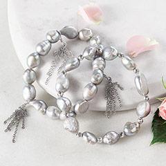Claire De Lune Pearl Bracelet Duo
