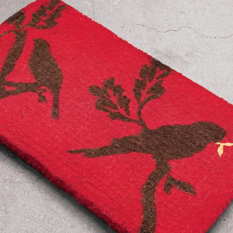 Love Birds Coir Mat