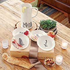 Herbes De Provence Pitcher & Plates