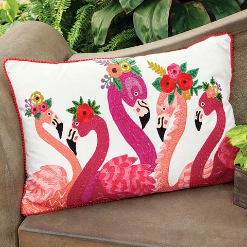 Waltz Of The Flamingos Pillow