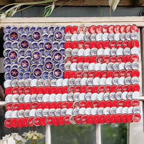 Bottle Cap Flag Art
