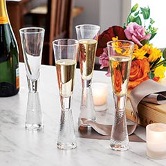 Normandie Champagne Flutes