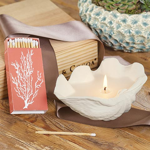 Seashore Candle & Matches