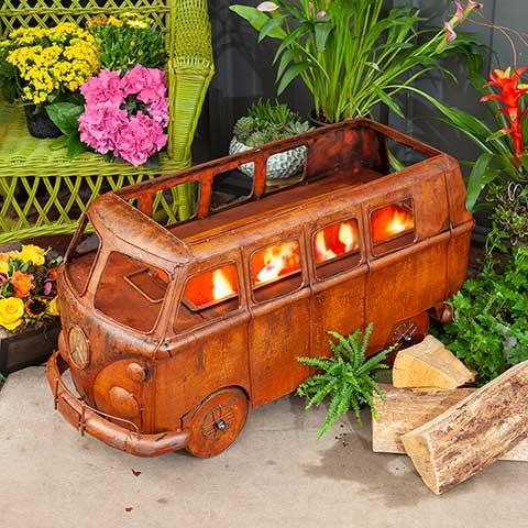 Vintage Bus Fire Pit & Grill