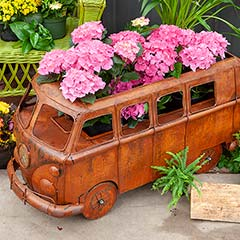 Vintage Bus Fire Pit & Grill