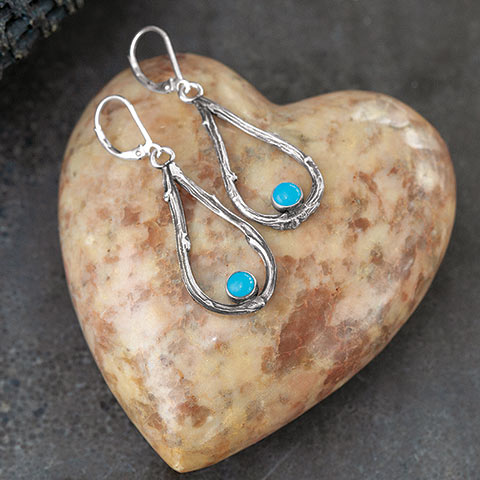 Turquoise & Tendrils Earrings