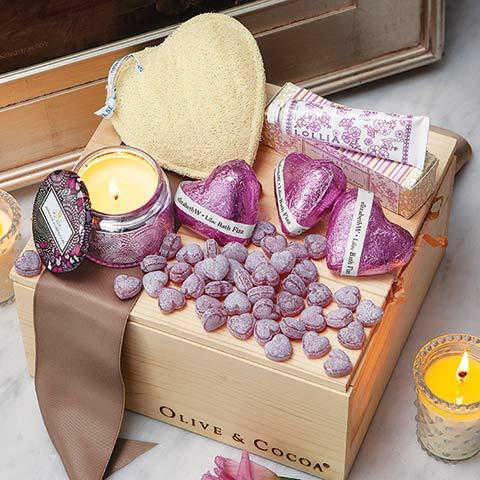 Posh Hearts Spa Crate