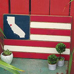 Customized Wood Flag