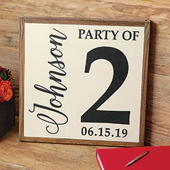 Customized Party Of 2 Sign