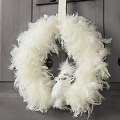 Snowy White Owl Wreath