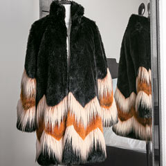 Mia Chevron Coat