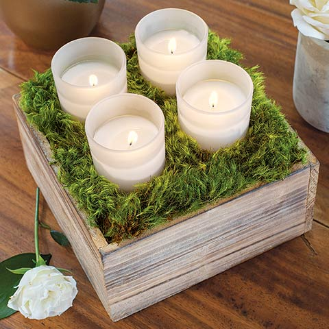 Frosted Votive Candle Box