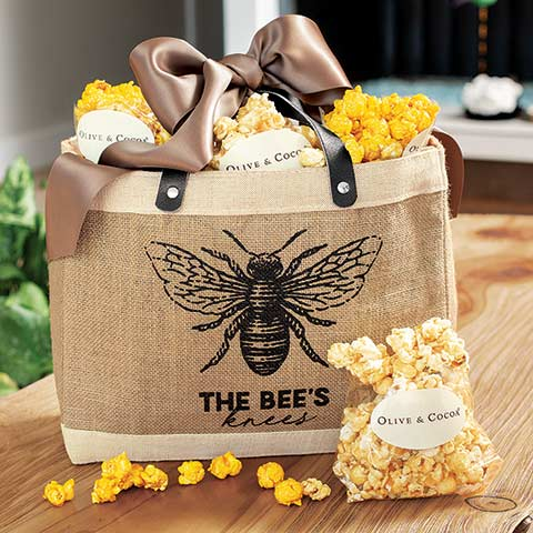 Bee's Knees Popcorn Tote