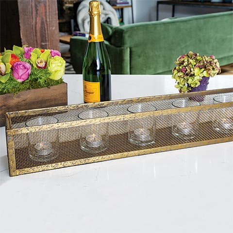 Gilded Candle Trough