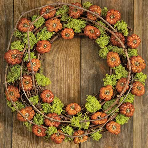 Persimmon & Moss Wreath