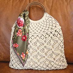 Rita Crocheted Bag & Kerchief